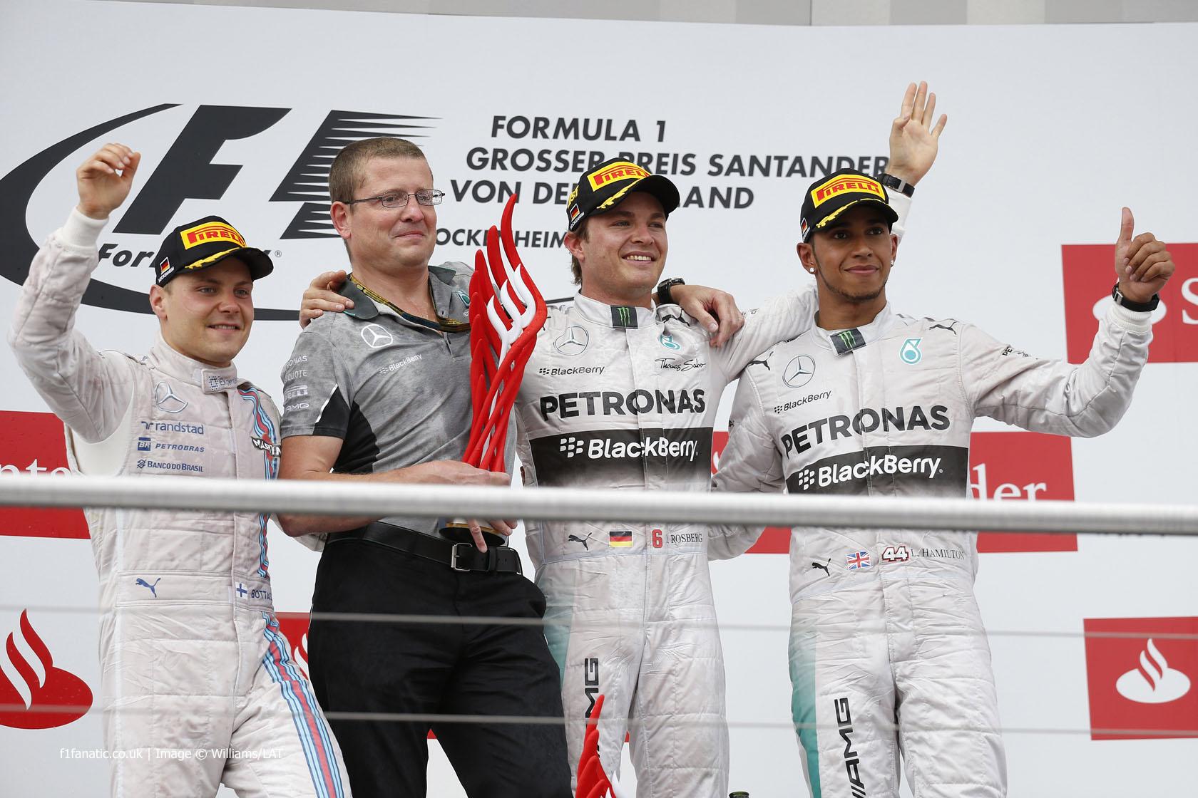 Valtteri Bottas, Nico Rosberg, Lewis Hamilton, Hockenheimring, 2014