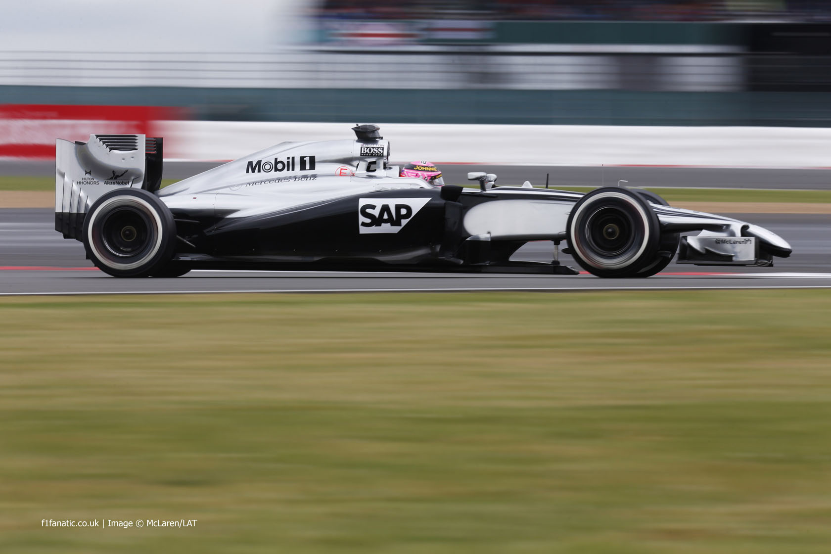 Jenson Button, McLaren, Silverstone, 2014