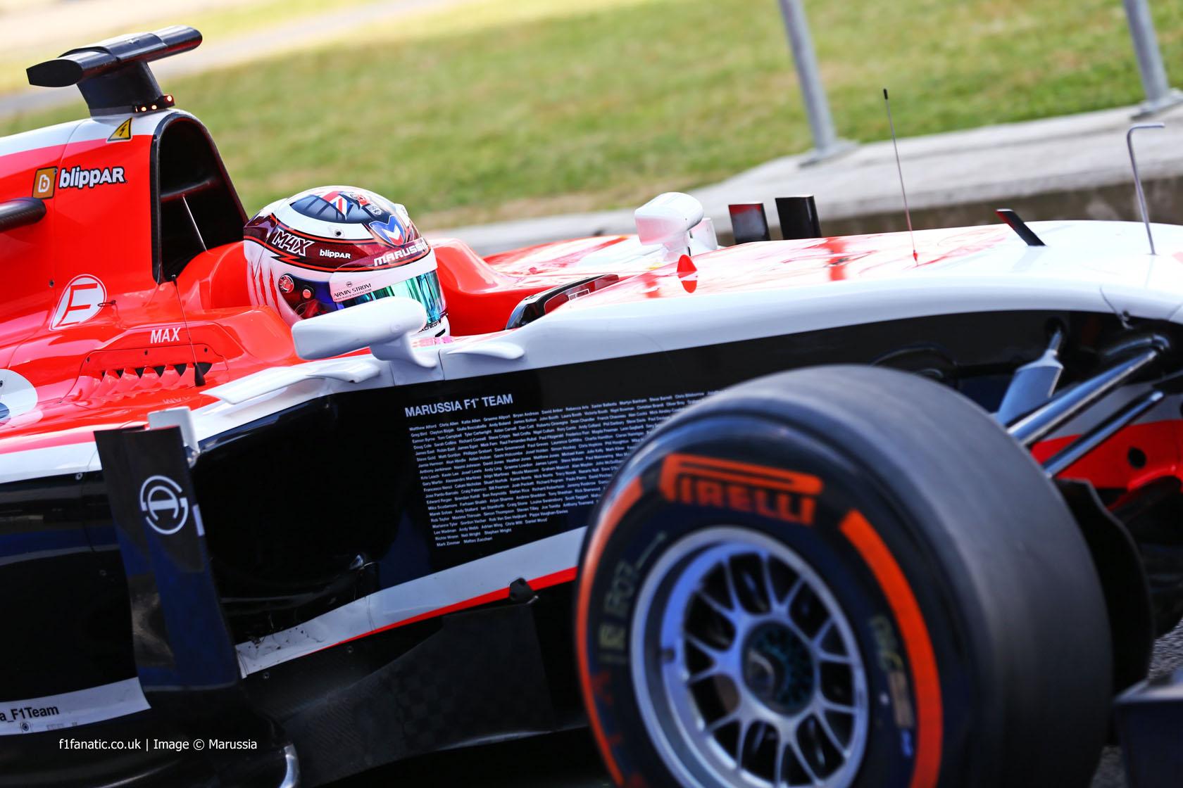 Max Chilton, Marussia, Silverstone test, 2014