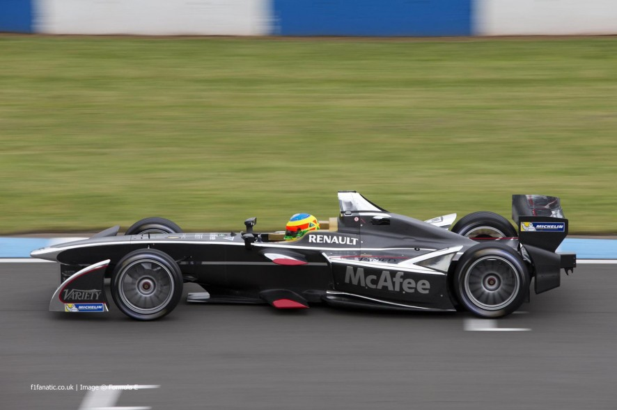 Mike Conway, Dragon, Formula E test, Donington Park, 2014
