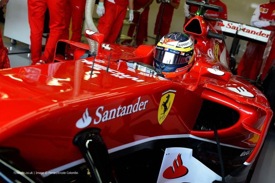 Pedro de la Rosa, Ferrari, Silverstone test, 2014