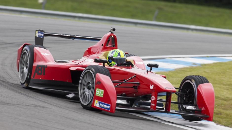 Lucas di Grassi, Abt, Formula E test, Donington Park, 2014