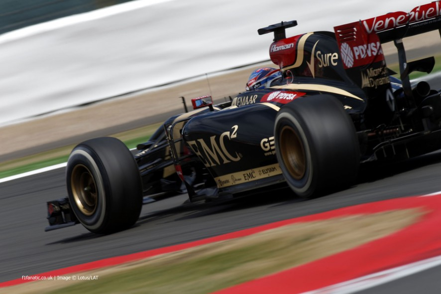 Romain Grosjean, Lotus, Silverstone, 2014