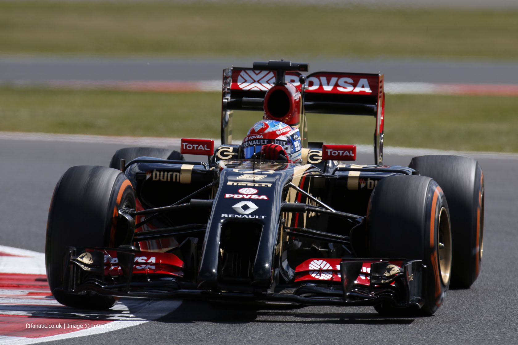 Romain Grosjean, Lotus, Silverstone, 2014