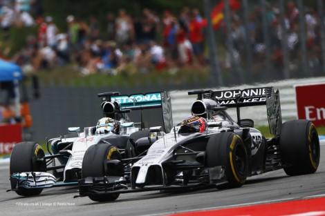 Lewis Hamilton, Jenson Button, Hockenheimring, 2014