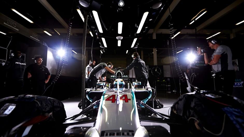 Lewis Hamilton, Mercedes, Silverstone test, 2014