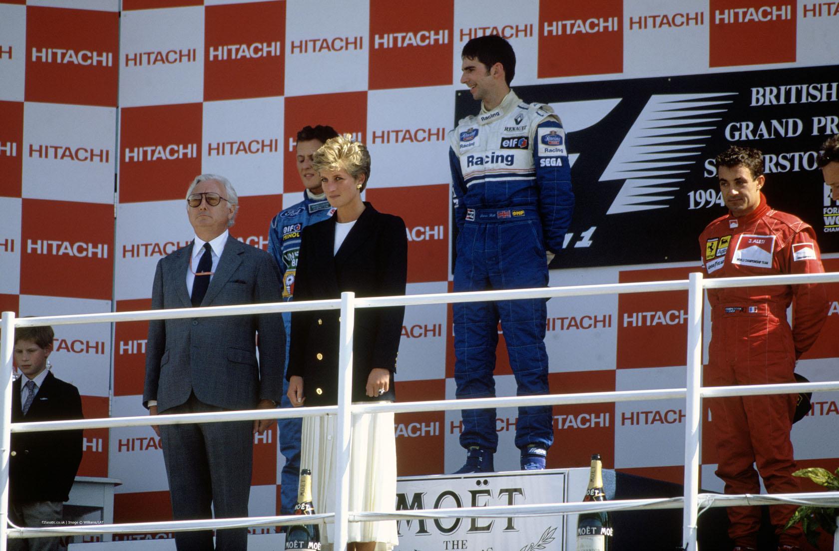 Michael Schumacher, Damon Hill, Jean Alesi, Silverstone, 1994