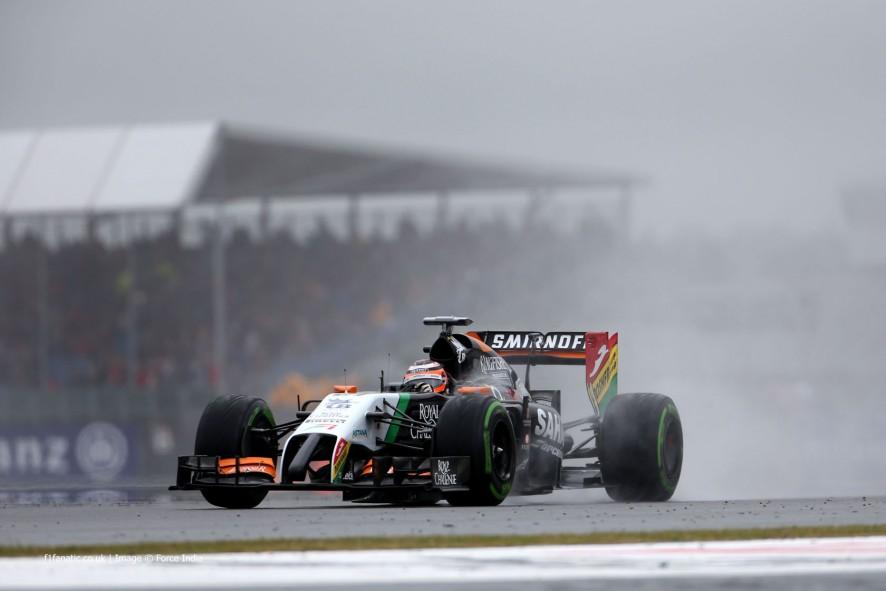 Nico Hulkenberg, Force India, Silverstone, 2014