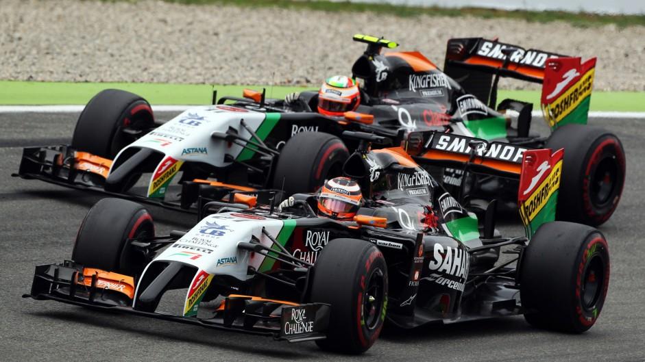 Nico Hulkenberg, Sergio Perez, Force India, Hockenheimring, 2014