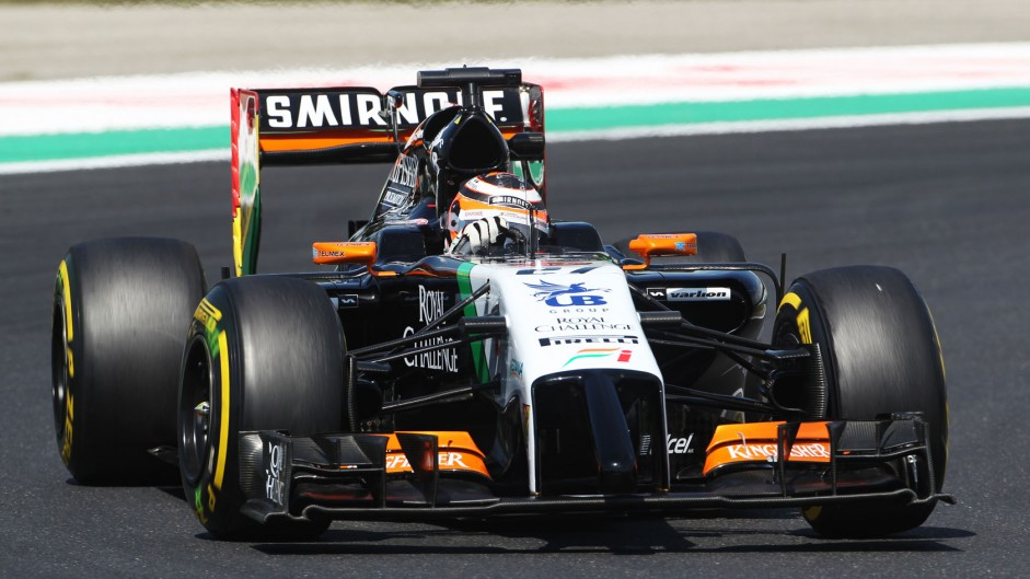 Hulkenberg apologises for Perez collision