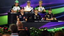 Press conference, Hungaroring, 2014