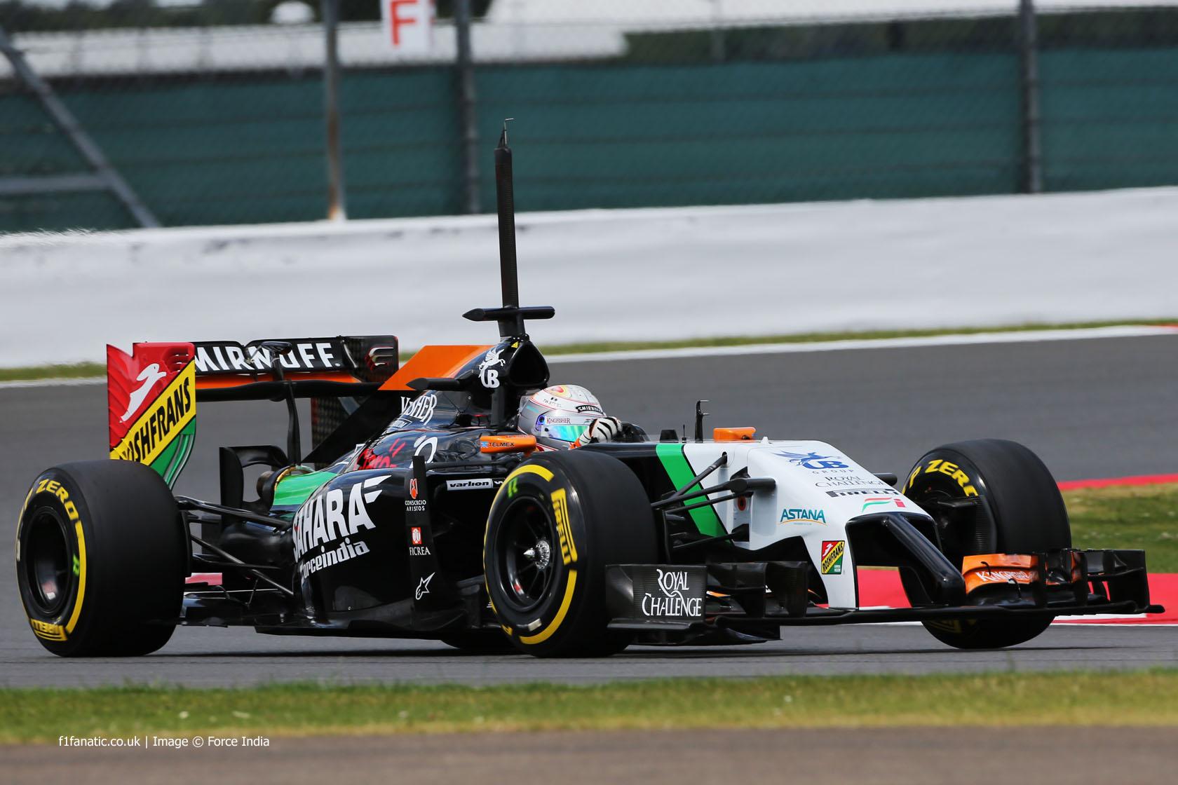 Daniel Juncadella, Force India, Silverstone test, 2014