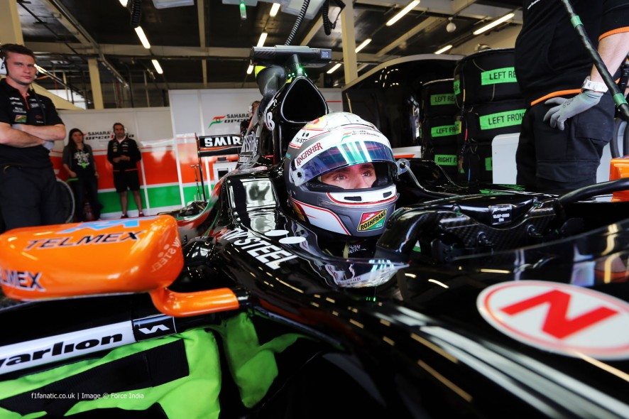 Daniel Juncadella, Force India, Silverstone, 2014