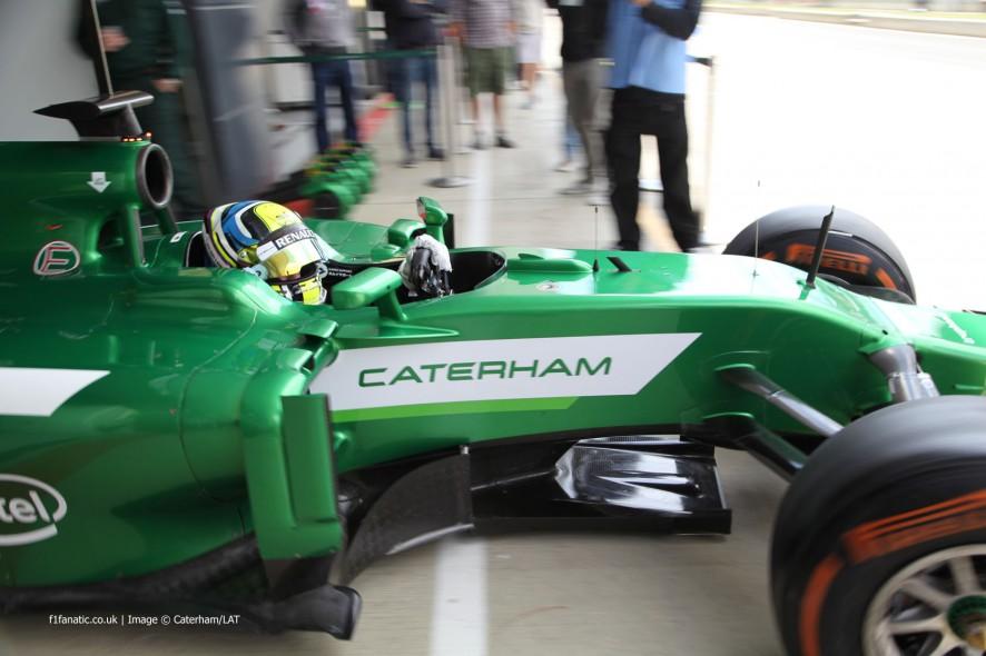 Julian Leal, Caterham, Silverstone test, 2014