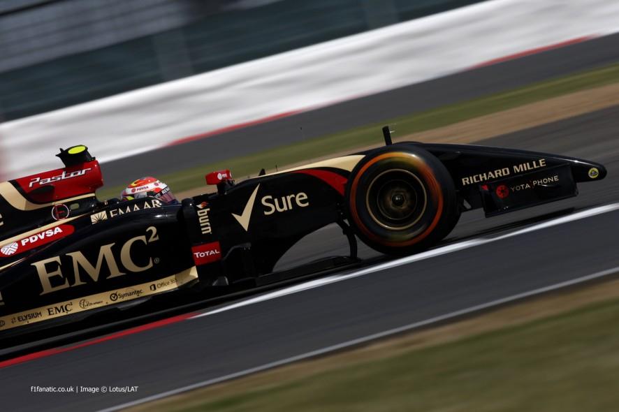Pastor Maldonado, Lotus, Silverstone, 2014