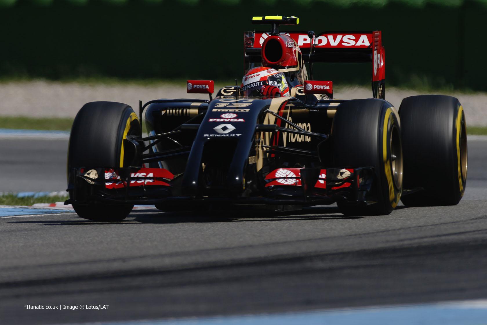 Pastor Maldonado, Lotus, Hockenheimring, 2014