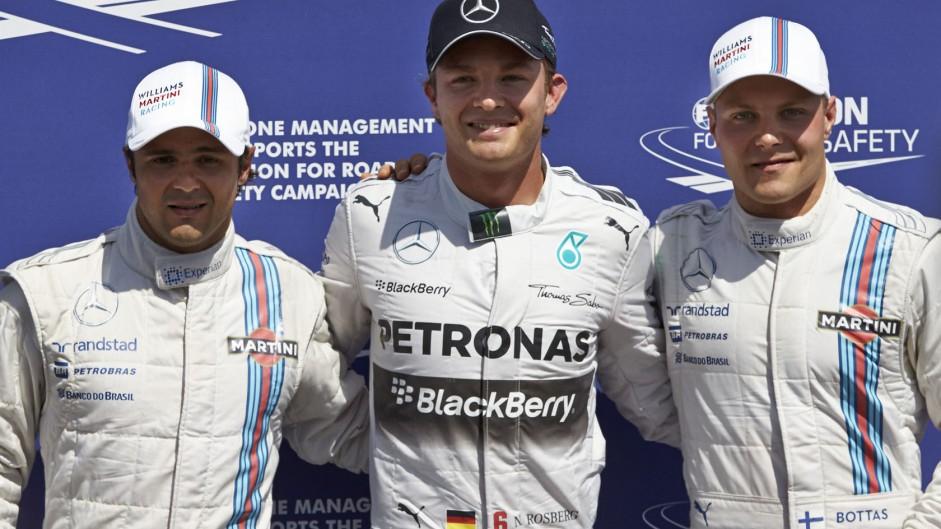 Felipe Massa, Nico Rosberg, Valtteri Bottas, Hockenheimring, 2014