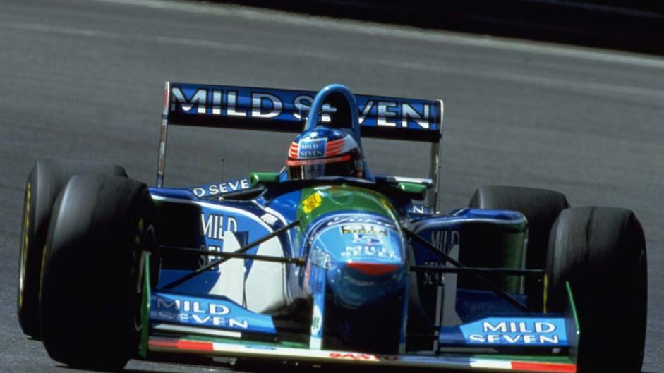 Berger ends Ferrari win drought after Benetton blaze