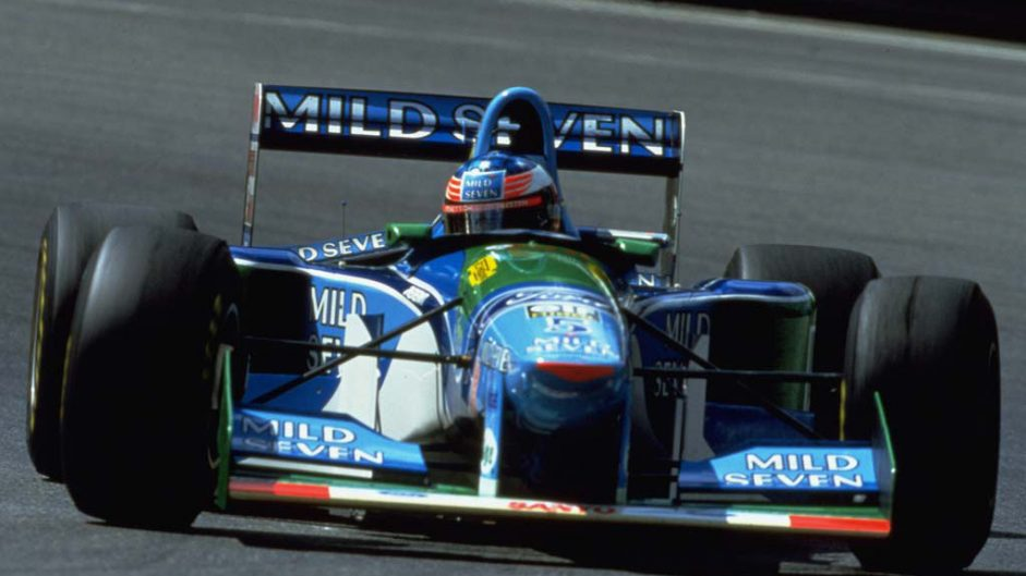 Schumacher's son drives his 1994 title-winning car
