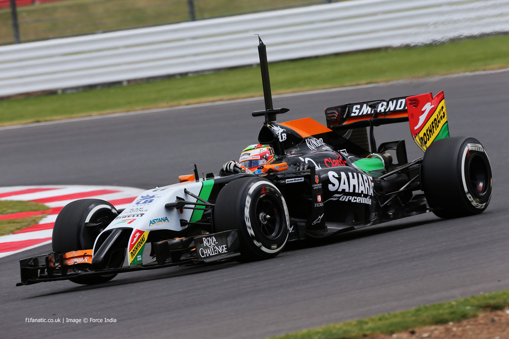 Sergio Perez, Force India, Silverstone test, 2014
