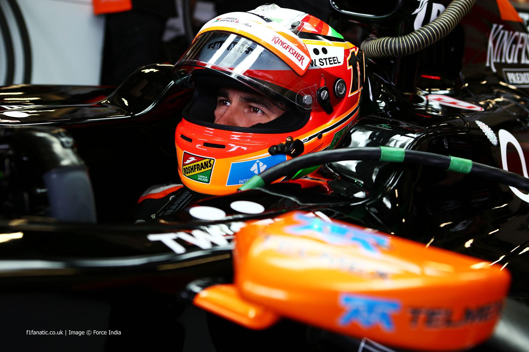 Sergio Perez, Force India, Silverstone, 2014