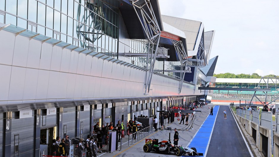 Sergio Perez, Force India, Silverstone test, 2014