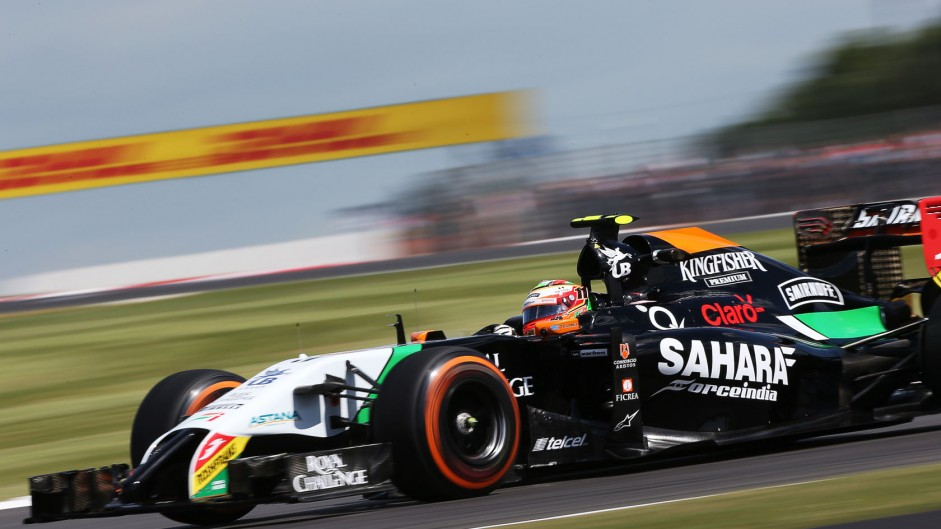Sergio Perez, Force India, Silverstone, 2014