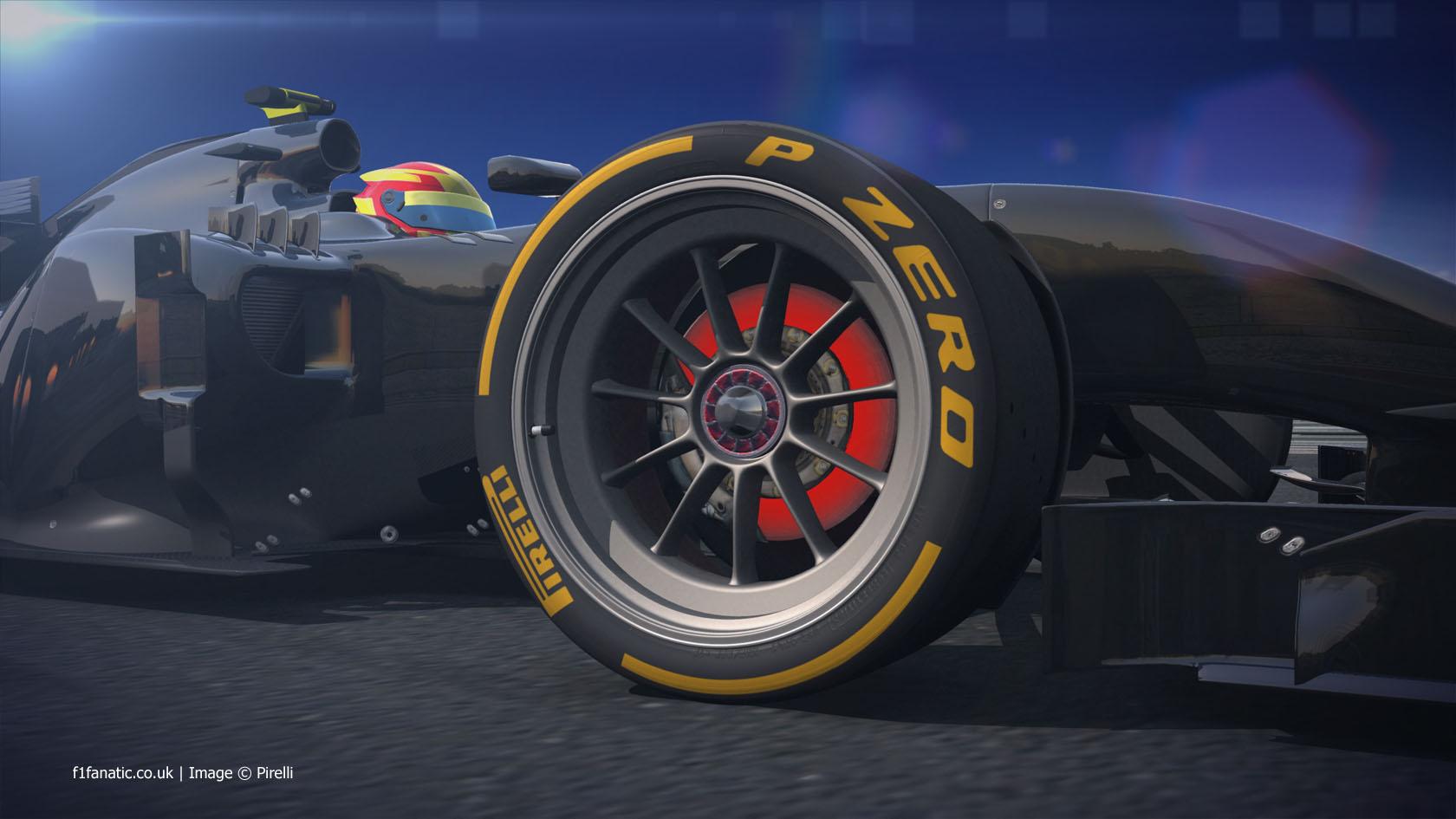 Pirelli 18-inch tyre rendering