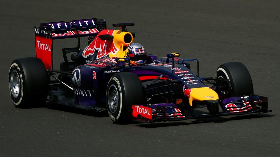 Daniel Ricciardo, Red Bull, Silverstone test, 2014
