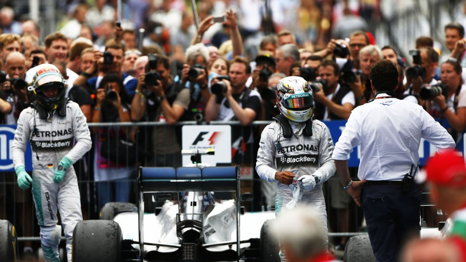 Nico Rosberg, Lewis Hamilton, Mercedes, Hockenheimring, 2014