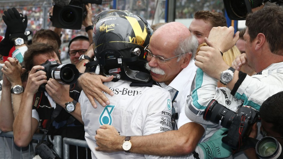 Nico Rosberg, Dieter Zetsche, Mercedes, Hockenheimring, 2014