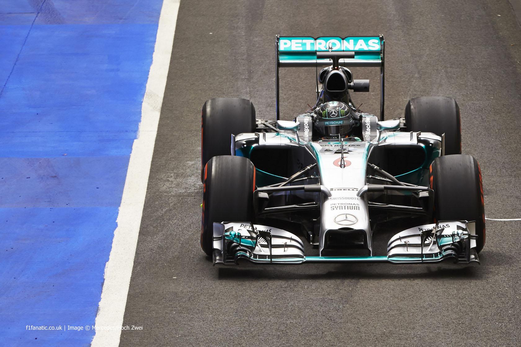 Nico Rosberg, Mercedes, Silverstone test, 2014
