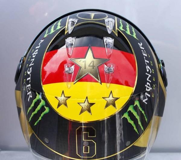 Nico Rosberg's revised 2014 German Grand Prix World Cup helmet
