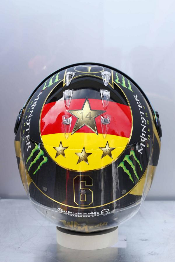 Nico Rosberg's revised 2014 German Grand Prix World Cup helmet