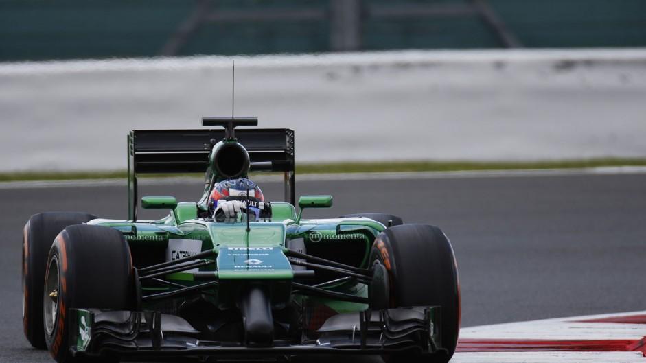 Will Stevens, Caterham, Silverstone test, 2014