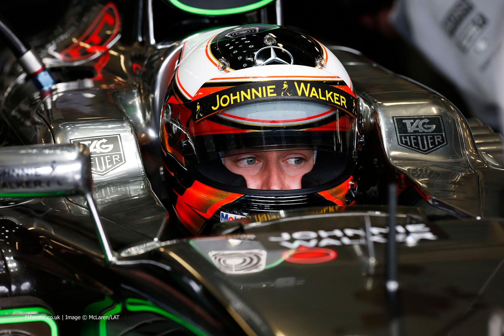 Stoffel Vandoorne, McLaren, Silverstone test, 2014