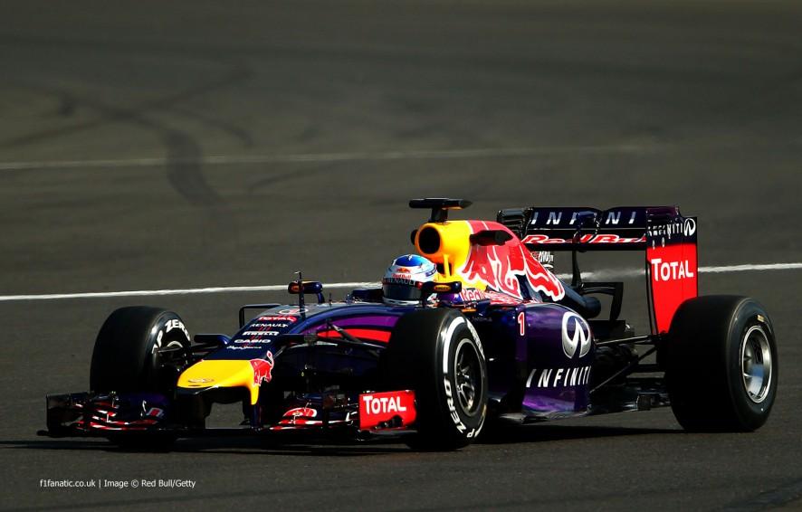 Sebastian Vettel, Red Bull, Silverstone test, 2014