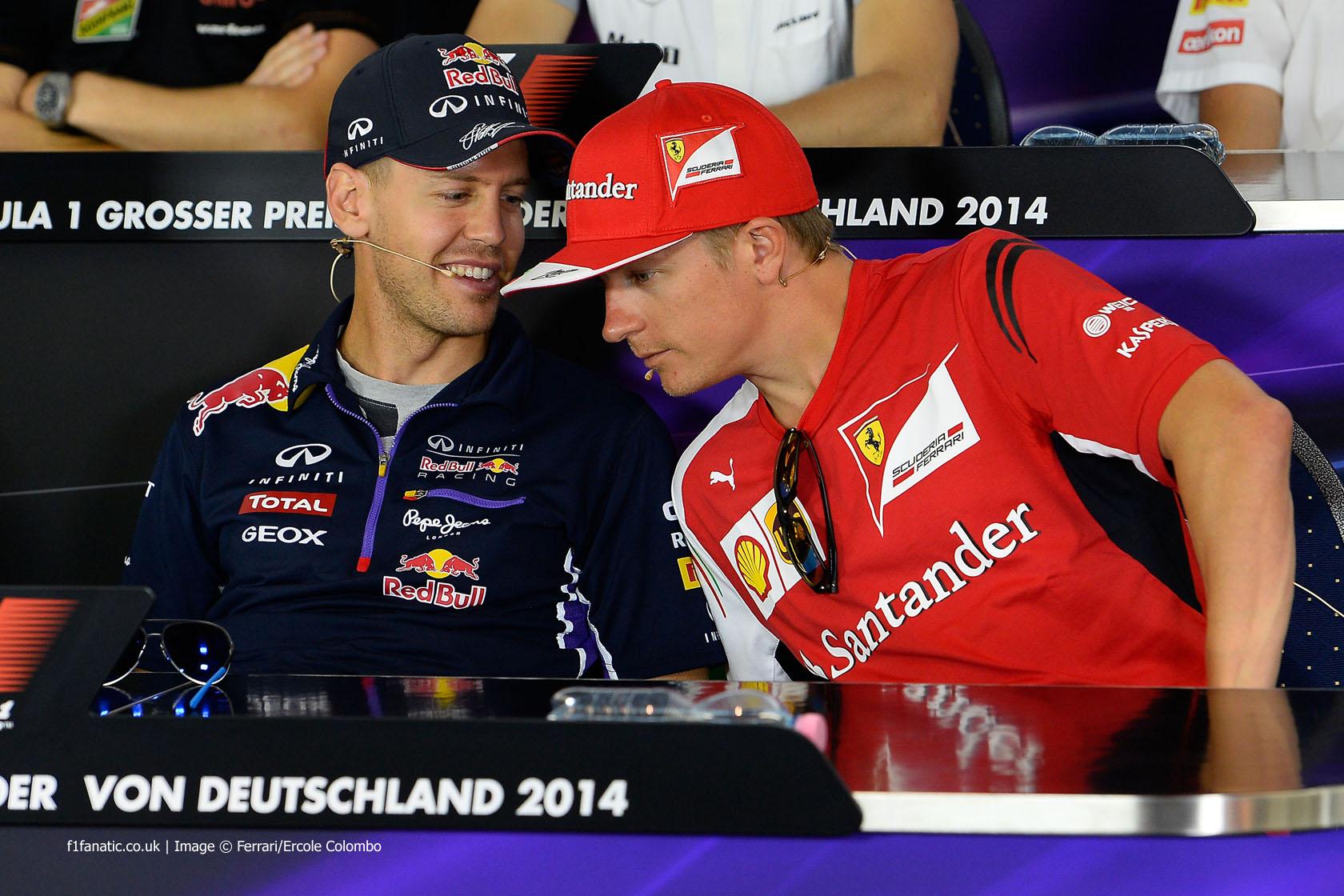 Sebastian Vettel, Kimi Raikkonen, Hockenheimring, 2014