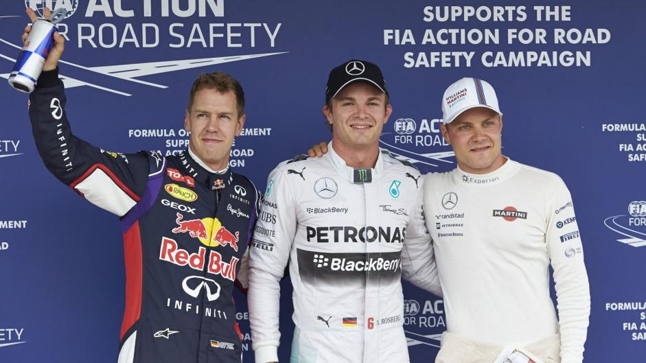 Sebastian Vettel, Nico Rosberg, Valtteri Bottas, Hockenheimring, 2014