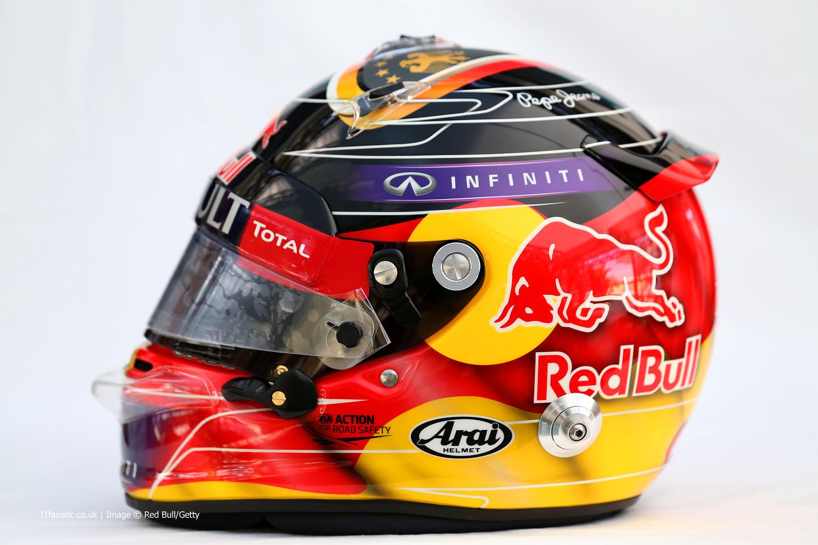 Sebastian Vettel Helmet 2014 Sebastian Vettel's wor...