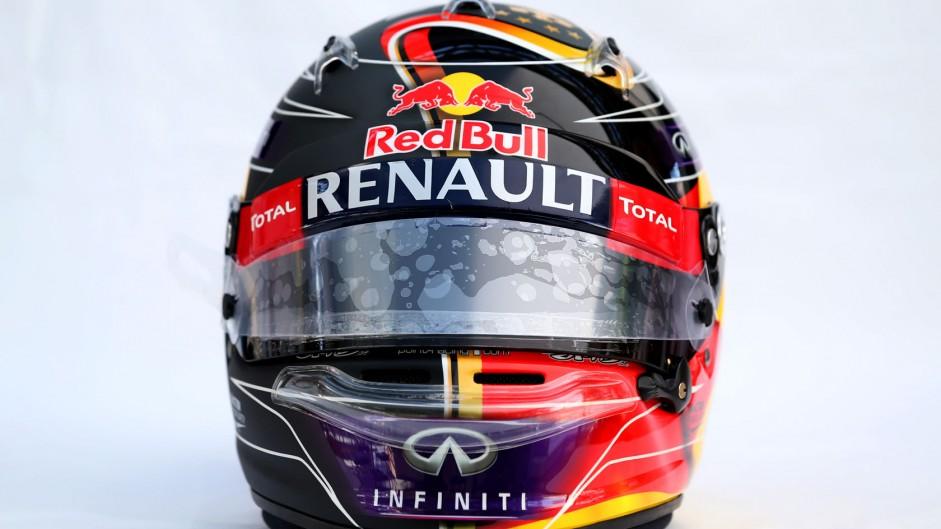 Sebastian Vettel's world cup helmet, Hockenheimring, 2014