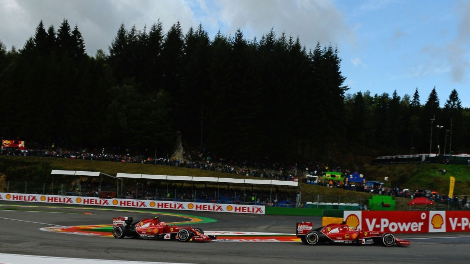 Fernando Alonso, Kimi Raikkonen, Ferrari, Spa-Francorchamps, 2014