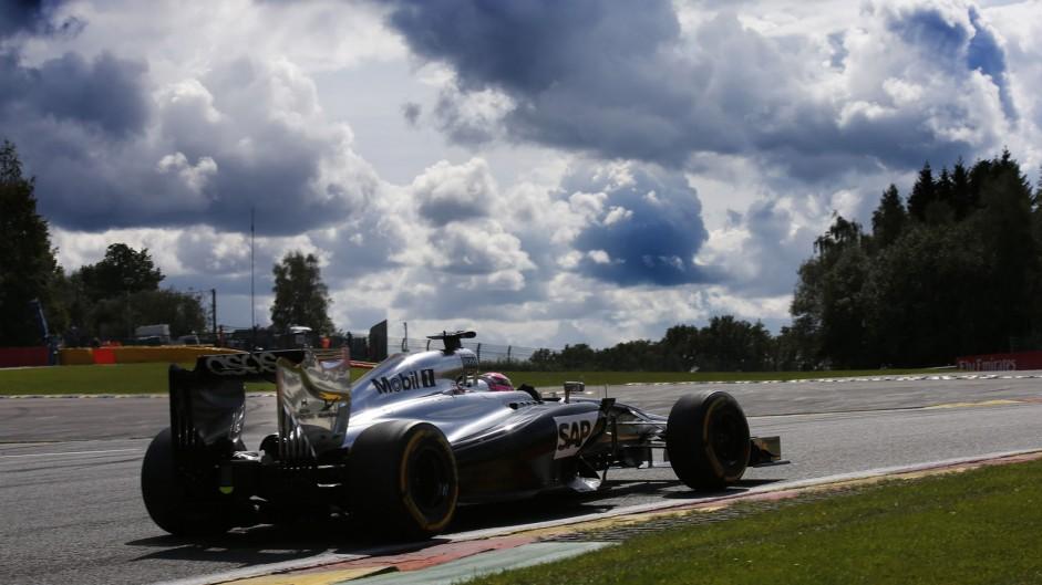 Jenson Button, McLaren, Spa-Francorchamps, 2014