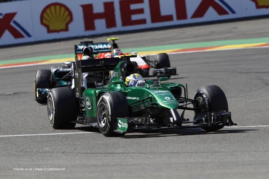Marcus Ericsson, Caterham, Spa-Francorchamps, 2014