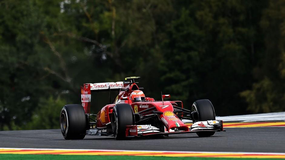 Kimi Raikkonen, Ferrari, Spa-Francorchamps, 2014