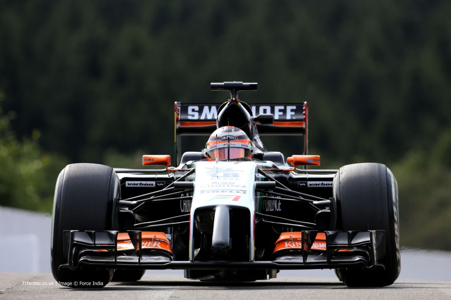 Nico Hulkenberg, Force India, Spa-Francorchamps, 2014