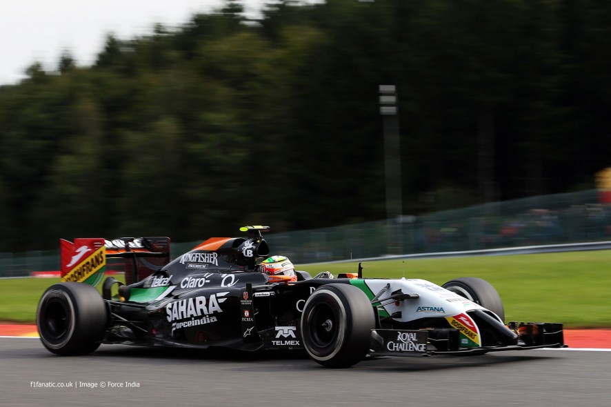 Sergio Perez, Force India, Spa-Francorchamps, 2014