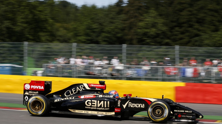 Romain Grosjean, Lotus, Spa-Francorchamps, 2014