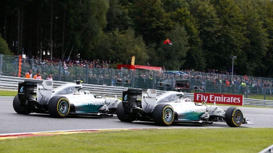 Rosberg denies Hamilton's account of Spa crash