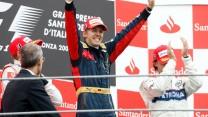 Heikki Kovalainen, Sebastian Vettel, Robert Kubica, Monza, 2008